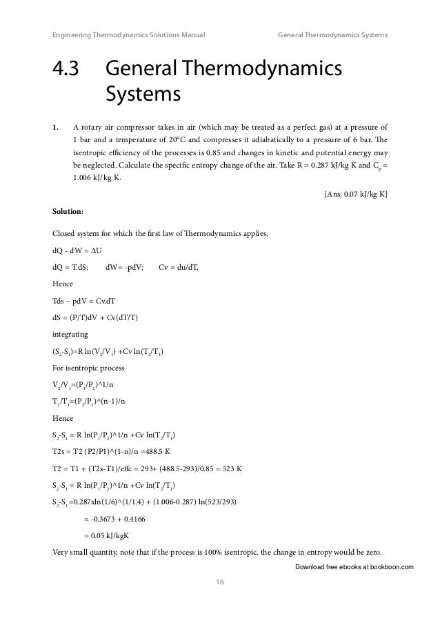 Engineering thermodynamics solutions manual 16 download free ebooks at bookboon engineering thermodynamics fandeluxe Images