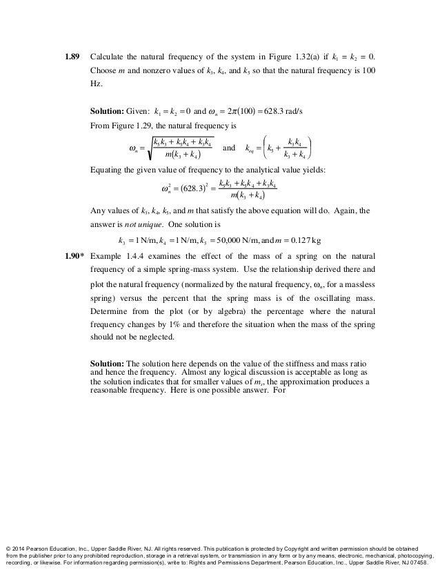 Engineering Vibration 4th Edition Inman Solutions Manual