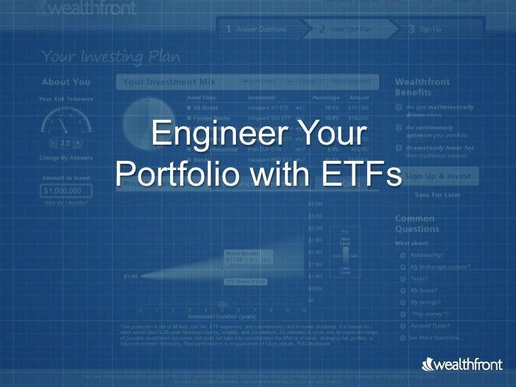 Engineer YourPortfolio with ETFs