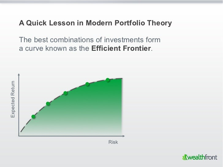 A Quick Lesson in Modern Portfolio Theory                  The best combinations of investments form                  a cu...