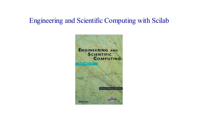 ePub Engineering and Scientific Computing with Scilab by