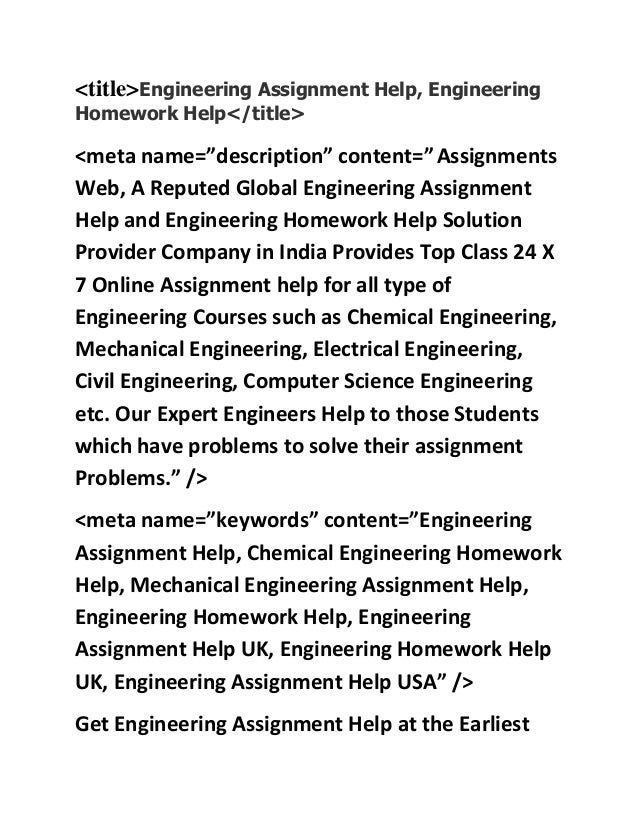 engineering assignment help engineering homework help chemical engi  <title>engineering assignment help engineering homework help< title> <meta