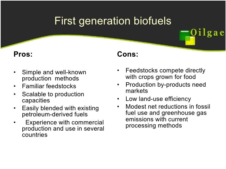 Biofuels Pros And Cons >> Engineering challenges in algae energy