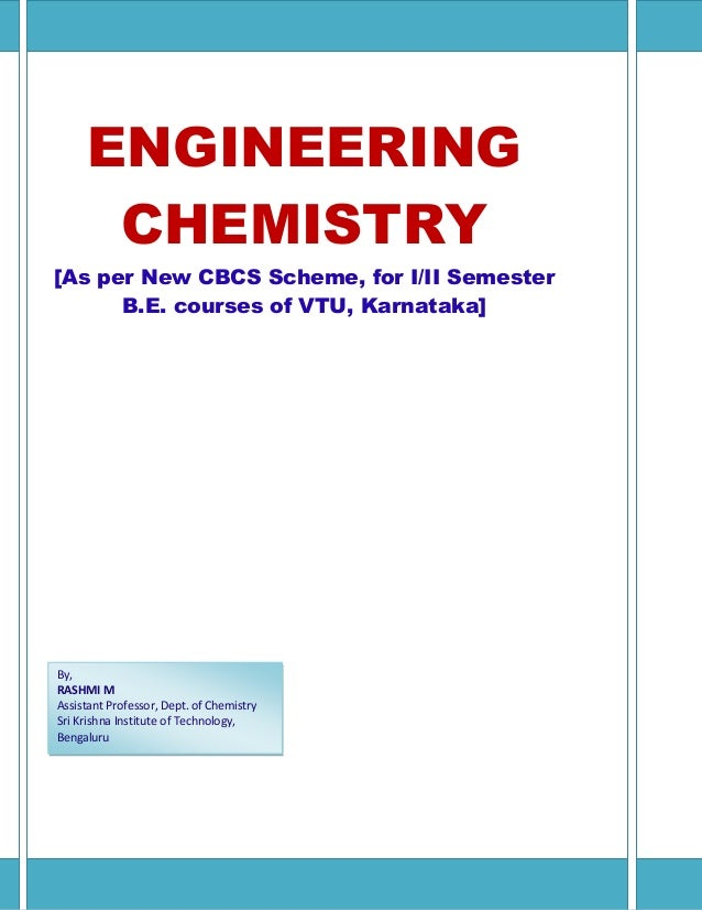 Engineering chemistry[As per New CBCS Scheme for I/II semester BE cou…