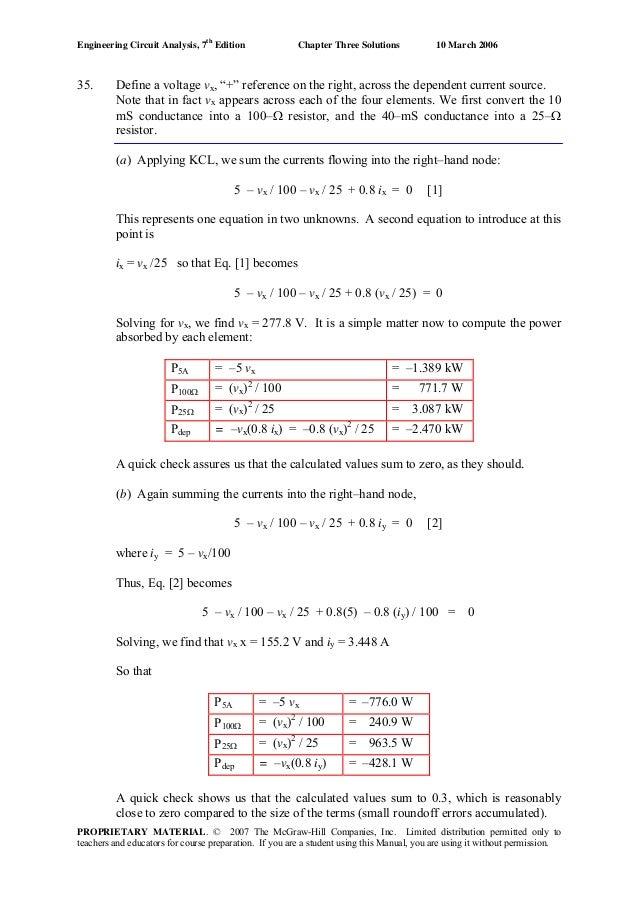 Engineering Circuit Analysis 7ed Solution Manual
