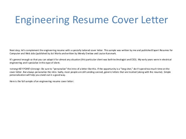Engineering Resume Cover Letter; 3. Engineering ...