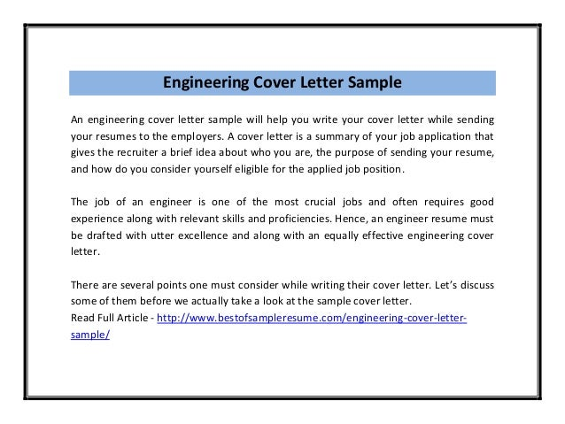 engineering cover letter - Cover Letters Engineering