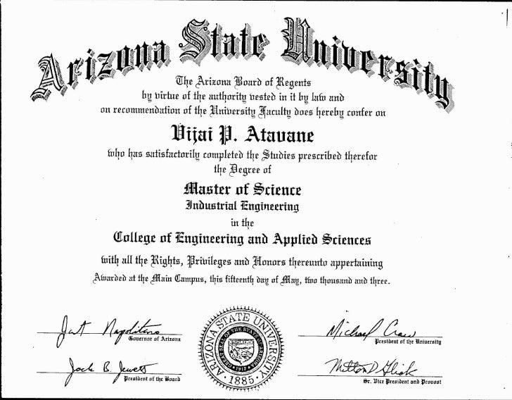 engineering degree certificates