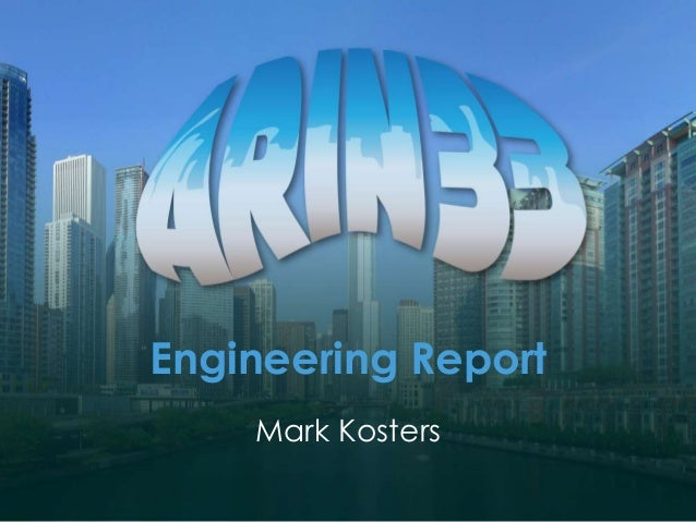 Engineering Report Mark Kosters
