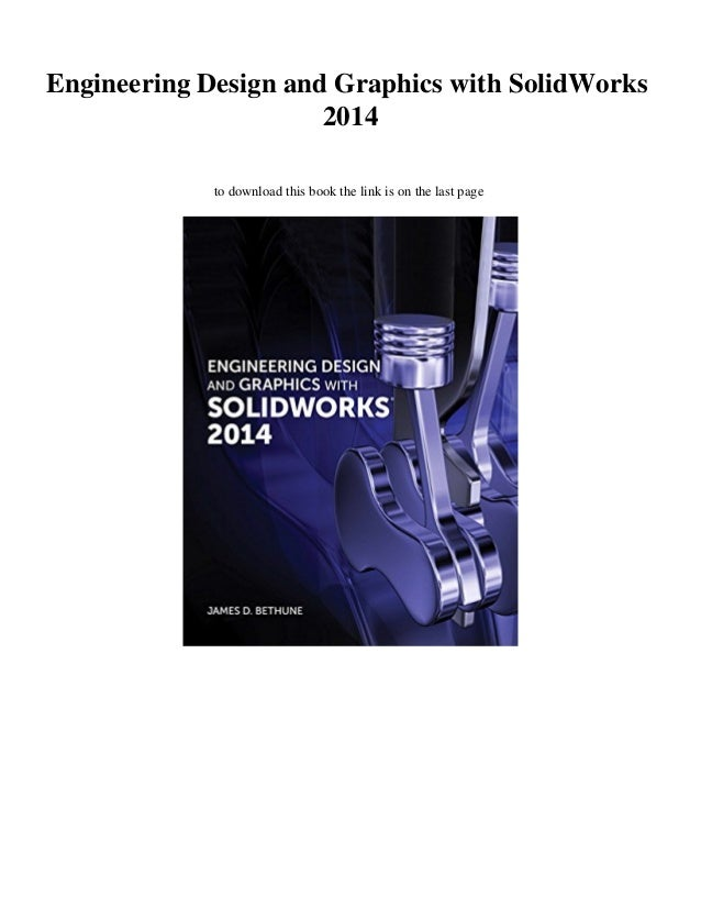 New Pdf Engineering Design And Graphics With Solidworks 2014