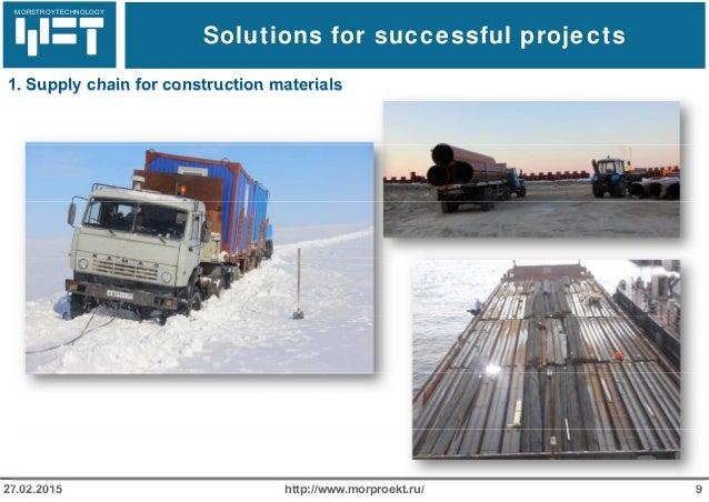 МОРСТРОЙТЕХНОЛОГИЯ Solutions for successful projects http://www.morproekt.ru/ 927.02.2015 1. Supply chain for construction...