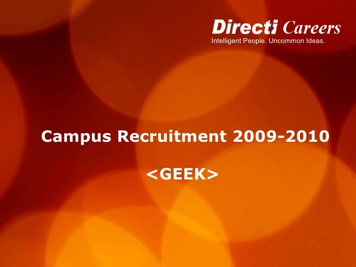Campus Recruitment 2009-2010 <GEEK>