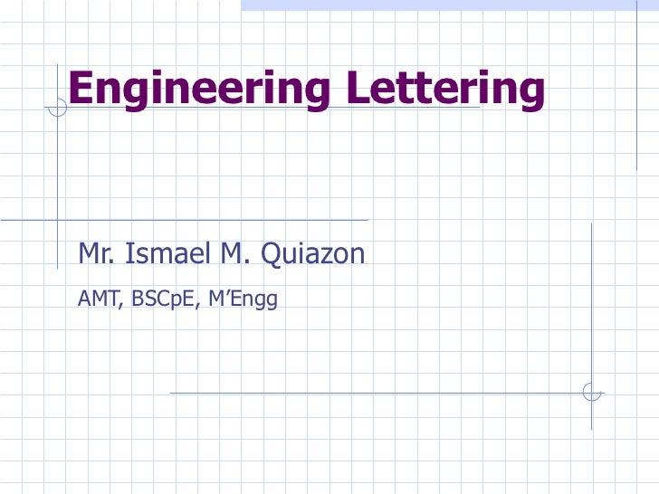 engineering drawing engineering lettering lesson 3 rh slideshare net engineering lettering guidelines slant engineering lettering guidelines template