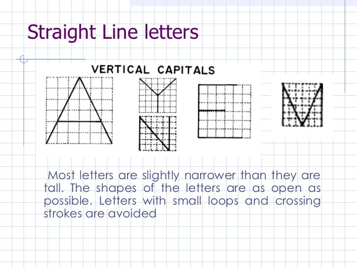 Worksheet A B C D In Vertical Letter engineering drawing lettering lesson 3 10 straight line letters
