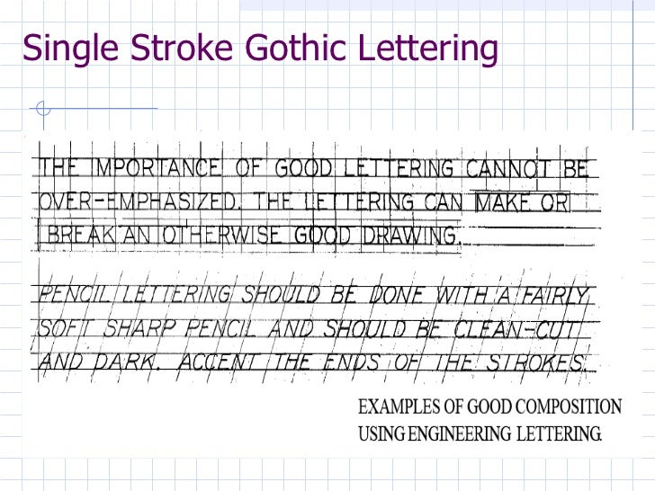 Engineering drawing engineering lettering lesson 3 for Architectural lettering template