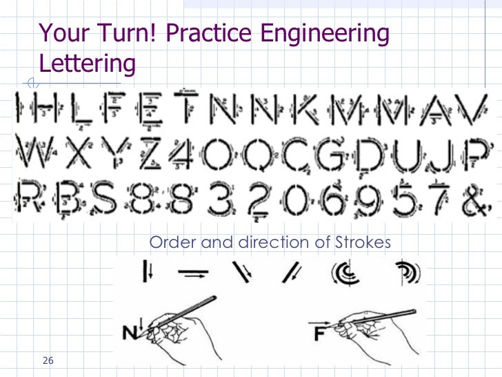 ... fractions 25 your turn practice engineering lettering practice strokes