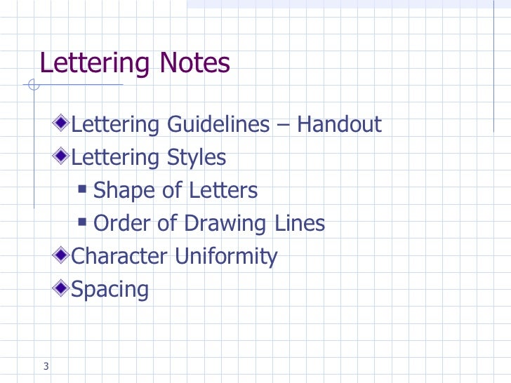 Engineering Drawing Lettering Lesson 3
