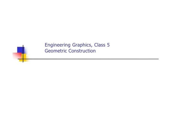 Engineering Graphics, Class 5 Geometric Construction