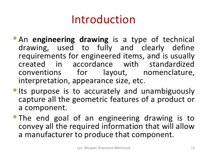 the importance of engineering drawing Answer to importance of engineering drawing and design for manufacturing and construction.