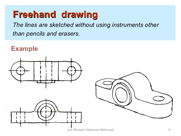 Drawing Various Types Of Lines Using In Instrumentation Field : Engineering drawing