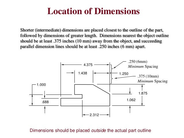 Drawing Lines To Nearest Mm : Engineering drawing notes b