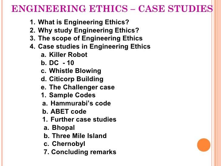 Engineering ethics & cases