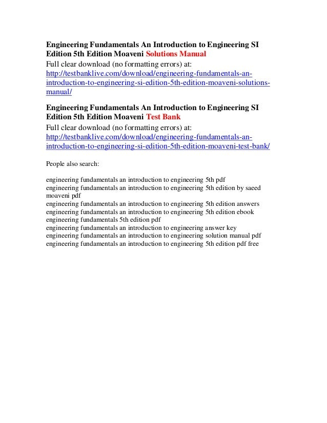Engineering fundamentals an introduction to engineering si edition 5t engineering fundamentals an introduction fandeluxe Images