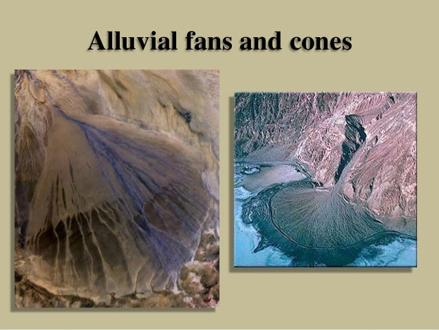 Alluvial fans and cones