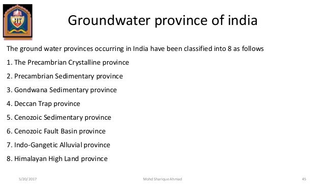 GROUNDWATER PROVINCES OF INDIA DOWNLOAD