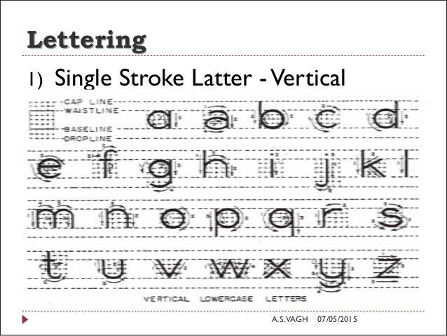Lettering 1 Single Stroke