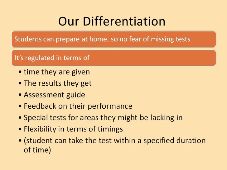 Our Differentiation