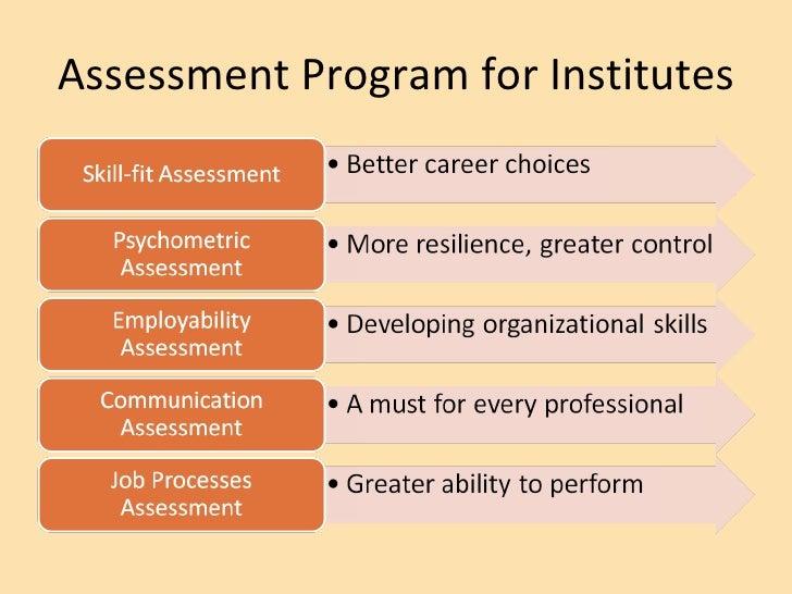 Assessment Program for Institutes