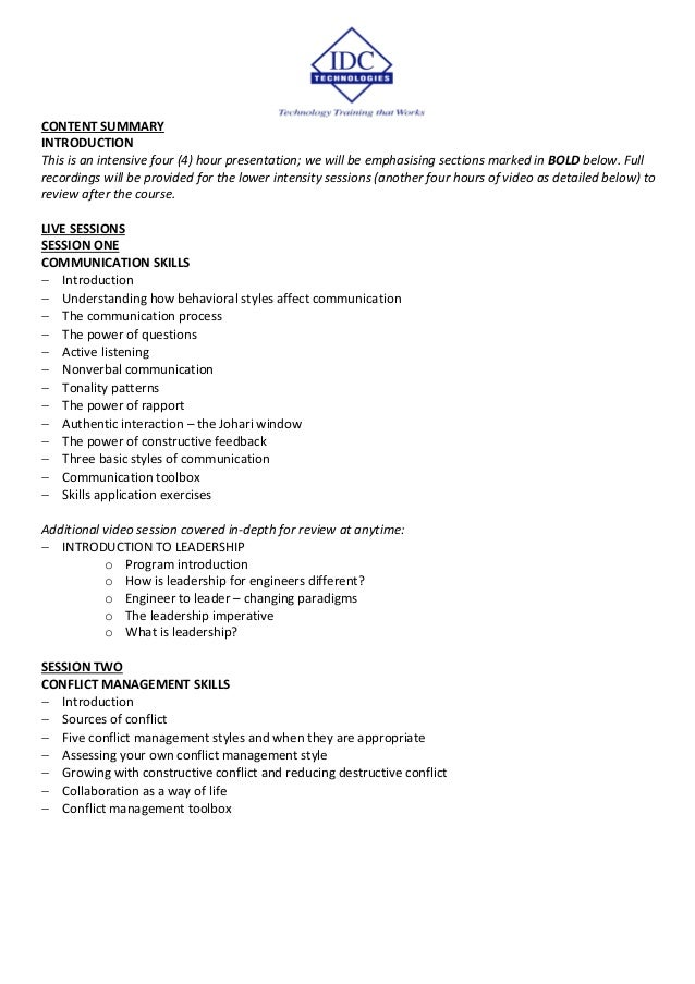 CONTENT SUMMARY INTRODUCTION This is an intensive four (4) hour presentation; we will be emphasising sections marked in BO...