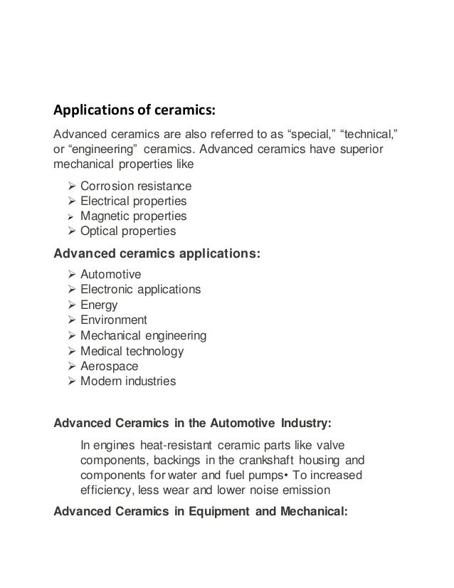Engineering Materials And There Applications
