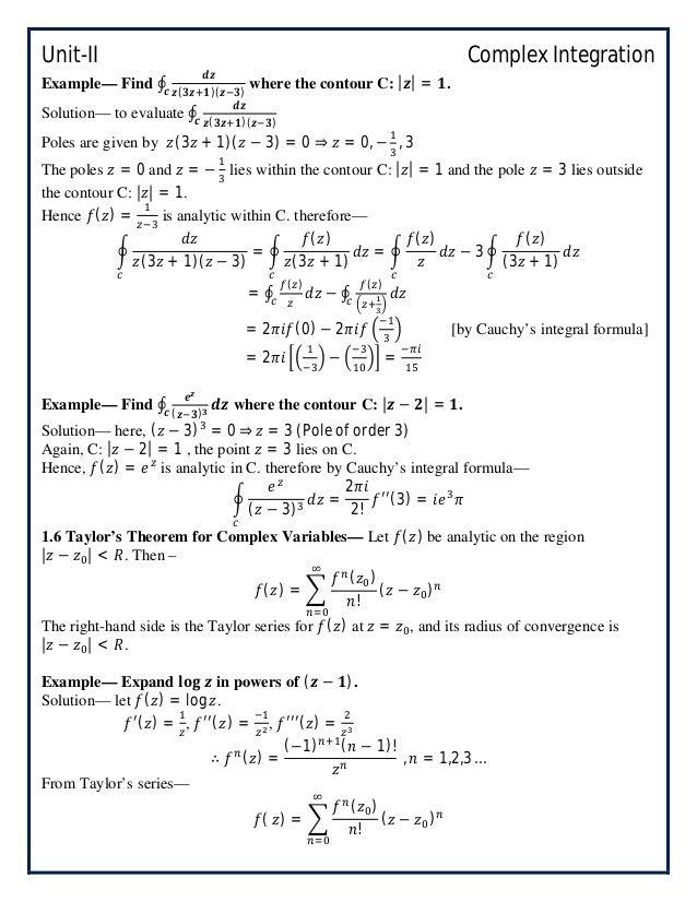 Engineering Mathematics-IV_B Tech_Semester-IV_Unit-II