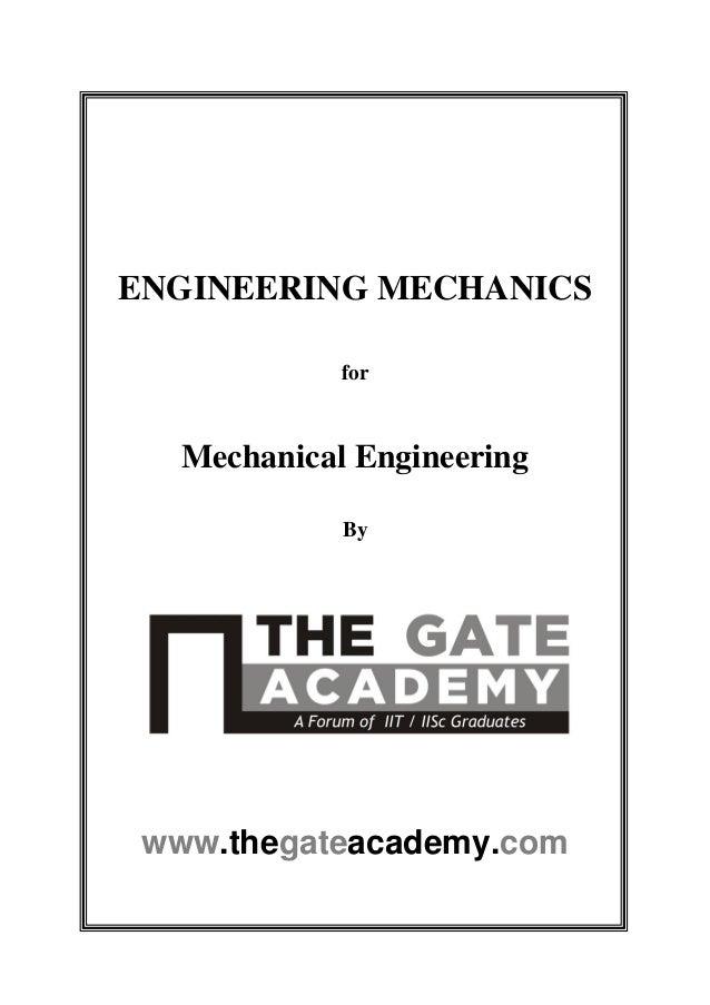 Mechanical gate for engineering pdf syllabus