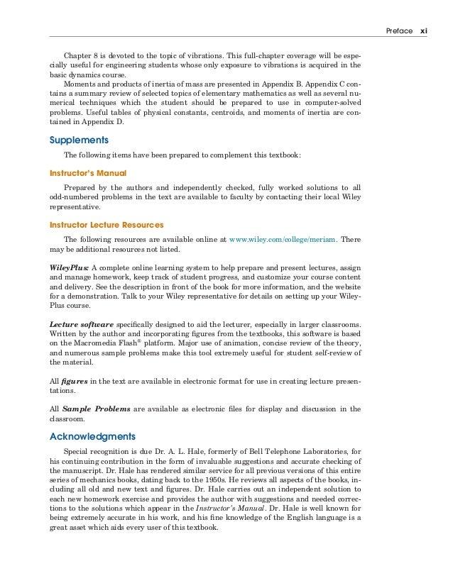 Engineering mechanics dynamics 7th edition j l meriam l g kr blacksburg virginia preface xiii 13 xiv fandeluxe Gallery