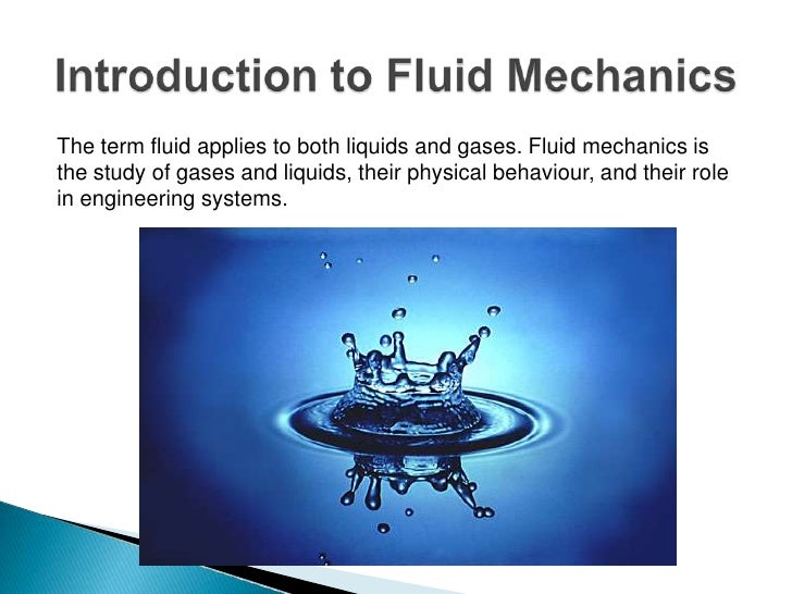 Engineering mechanics powerpoint fluid mechanics