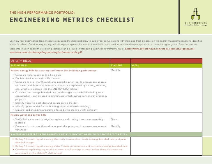 the high performance portfolio:  EnginEEring MEtrics chEcklist  See how your engineering team measures up, using the check...