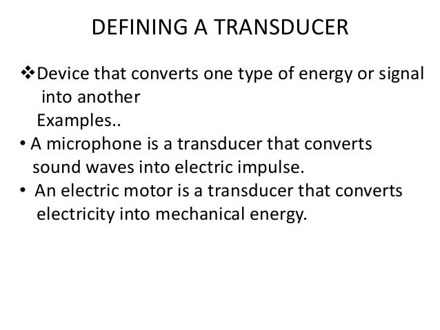 TRANSDUCER (Engineering metrology and instrumentation)