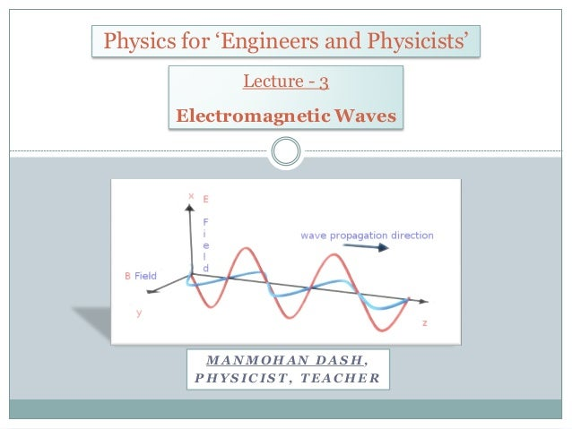 M A N M O H A N D A S H , P H Y S I C I S T , T E A C H E R Physics for 'Engineers and Physicists' Lecture - 3 Electromagn...