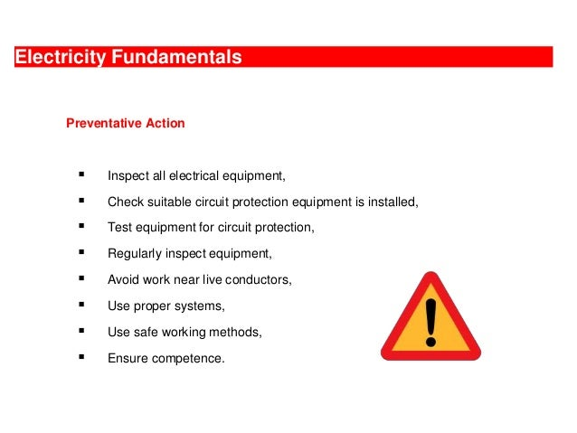 Electricity Hazards And Control Measures