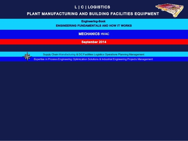L   C   LOGISTICS  PLANT MANUFACTURING AND BUILDING FACILITIES EQUIPMENT  Engineering-Book  ENGINEERING FUNDAMENTALS AND H...