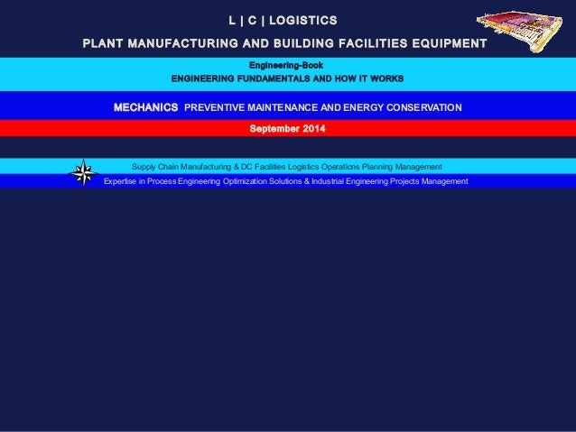 L | C | LOGISTICS  PLANT MANUFACTURING AND BUILDING FACILITIES EQUIPMENT  Engineering-Book  ENGINEERING FUNDAMENTALS AND H...