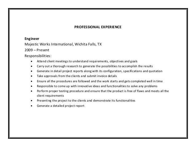 Engineering resume sample pdf