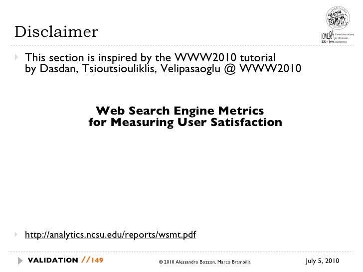 Disclaimer <ul><li>This section is inspired by the WWW2010 tutorial  by Dasdan, Tsioutsiouliklis, Velipasaoglu @ WWW2010 <...