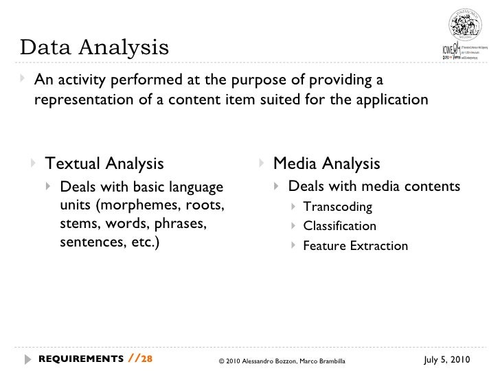 <ul><li>Textual Analysis </li></ul><ul><ul><li>Deals with basic language units (morphemes, roots, stems, words, phrases, s...