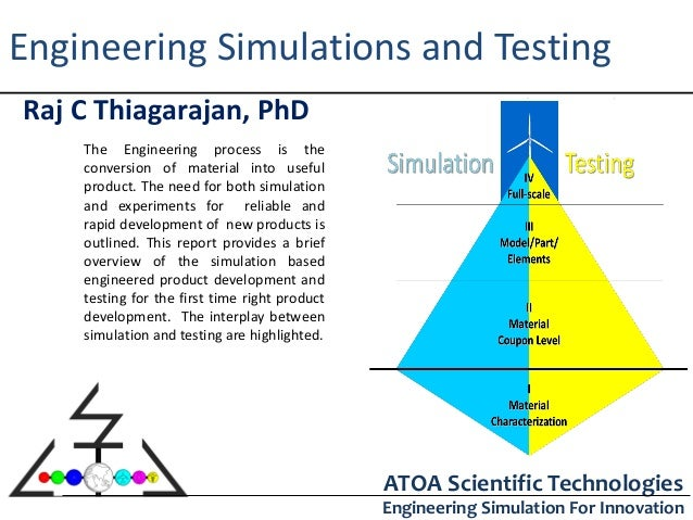 Engineering Simulations and TestingRaj C Thiagarajan, PhD    The Engineering process is the    conversion of material into...