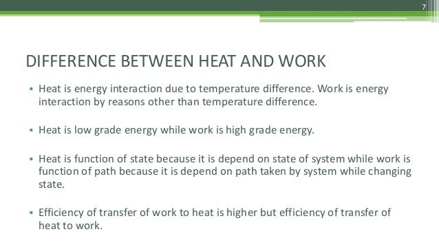 Differences Between Temperature And Heat