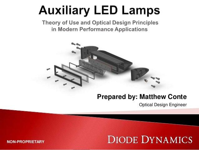 NON-PROPRIETARY Prepared by: Matthew Conte Optical Design Engineer